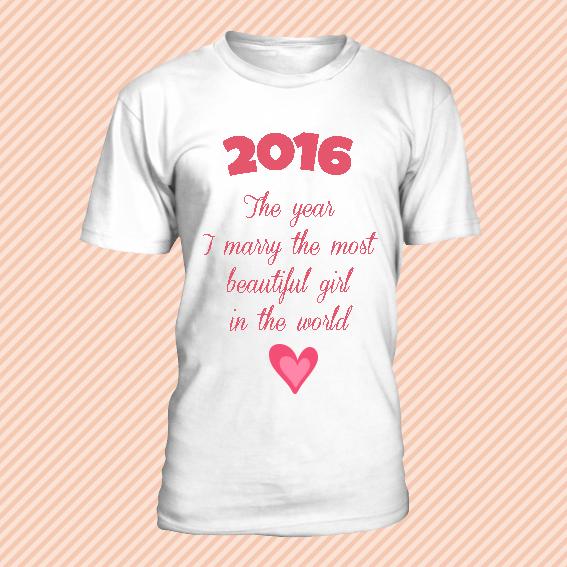 tshirt 2016 MARIAGE