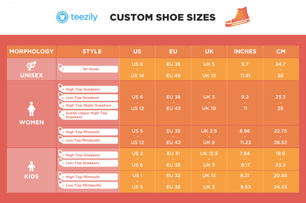 CUSTOM SHOE SIZE