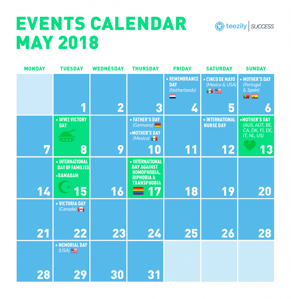 May Calendar Of Events : May events calendar mother s day cinco de mayo